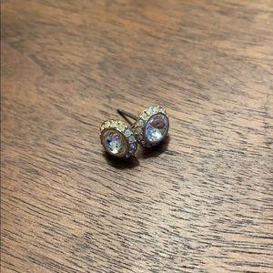 Swarovski Crystal Stud Earrings - Gold